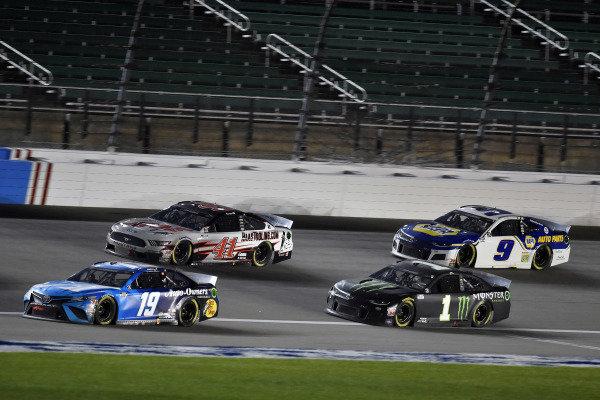 #19: Martin Truex Jr., Joe Gibbs Racing, Auto Owner's Insurance Toyota Camry and #1: Kurt Busch, Chip Ganassi Racing, Monster Energy Chevrolet Camaro