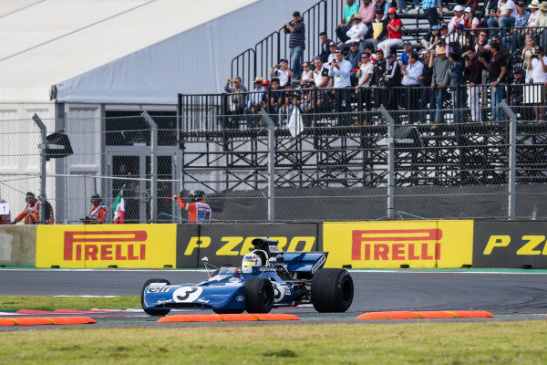John Delane (USA) Tyrrell 002 at Masters Historic, Circuit Hermanos Rodriguez, Mexico City, Mexico, 27-29 October 2017.