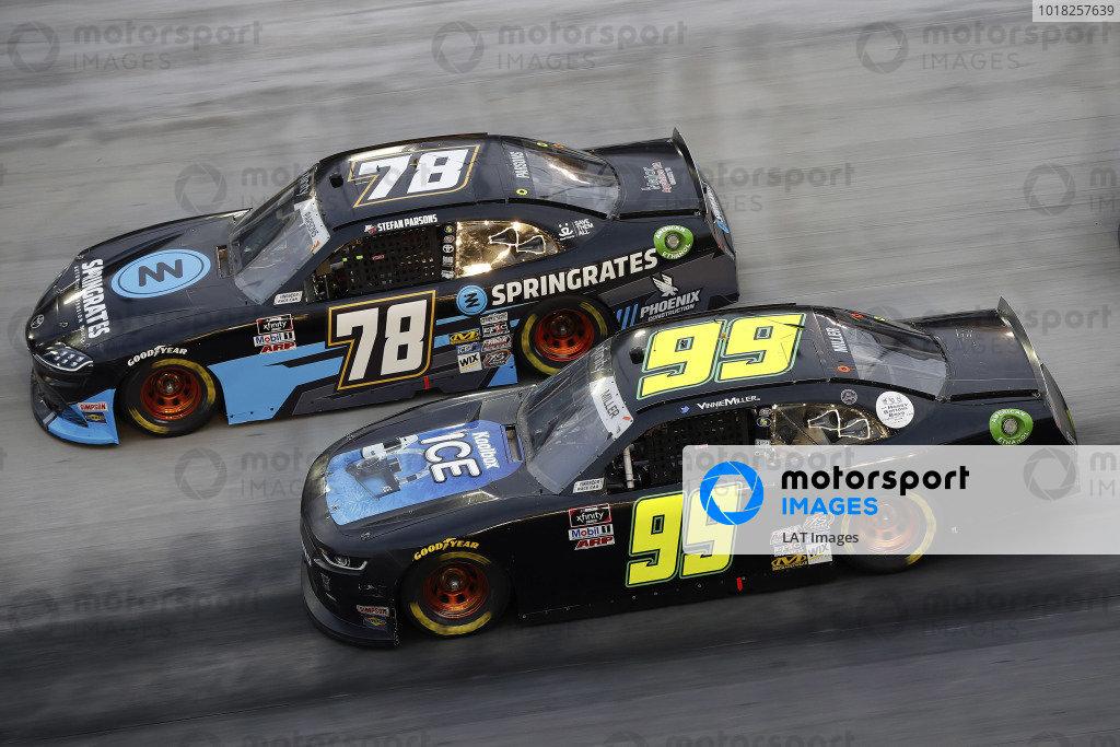#78: Stefan Parsons, B.J. McLeod Motorsports, Toyota Supra Springrates and #99: Vinnie Miller, B.J. McLeod Motorsports, Chevrolet Camaro Koolbox