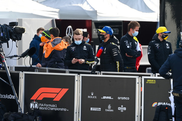 Daniel Ricciardo, Renault F1, is interviewed
