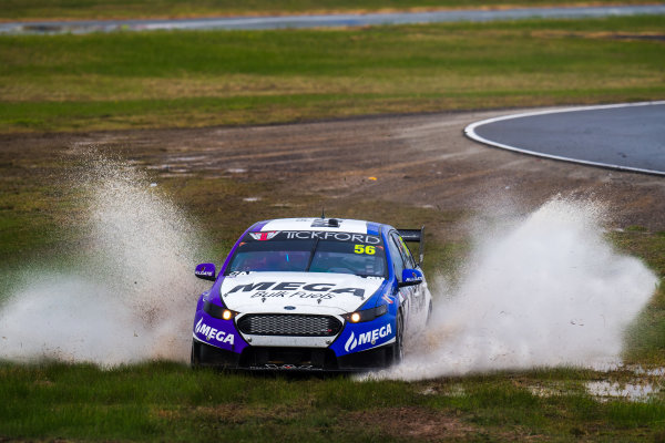 2017 Supercars Championship Round 5.  Winton SuperSprint, Winton Raceway, Victoria, Australia. Friday May 19th to Sunday May 21st 2017. Jason Bright drives the #56 MEGA Racing Ford Falcon FG-X. World Copyright: Daniel Kalisz/LAT Images Ref: Digital Image 190517_VASCR5_DKIMG_3145.JPG