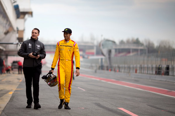 Circuit de Barcelona Catalunya, Barcelona, Spain. Monday 13 March 2017. Sean Gelael (INA, Pertamina Arden). Photo: Alastair Staley/FIA Formula 2 ref: Digital Image 580A9211