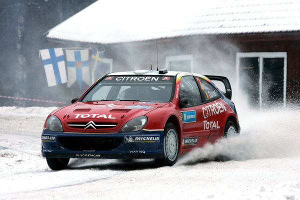 2005 FIA World Rally Champs. Round two Swedish Rally.10th-13th February 2005.Francois Duval, Citroen, action.World Copyright: McKlein/LAT
