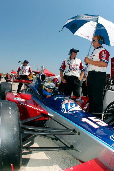 2003 IRL IndyCar Kansas City, 4-6 July 2003Kansas Speedway, Kansas City, KS USAKenny Brack waits for practice to begin-2003 Lesley Ann Miller, USALAT Photographic
