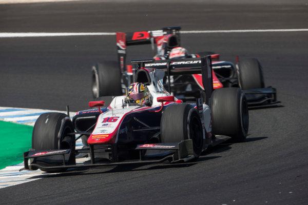 2017 FIA Formula 2 Round 10. Circuito de Jerez, Jerez, Spain. Sunday 8 October 2017. Nabil Jeffri (MAS, Trident).  Photo: Andrew Ferraro/FIA Formula 2. ref: Digital Image _FER3613