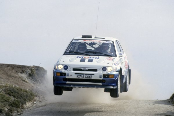 1993 World Rally Championship.Portuguese Rally, Portugal. 3-6 March 1993.Francois Delecour/Daniel Grataloup (Ford Escort RS Cosworth), 1st position.World Copyright: LAT PhotographicRef: 35mm transparency 93RALLY03