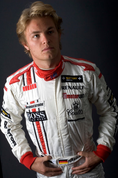 2005 GP2 Drivers Photo Shoot Nico Rosberg (D, ART Grand Prix). Portrait. 14th June 2005 Paul Ricard,France World Copyright: GP2 Series Ref: Digital Image Only Hi-Res Available on request