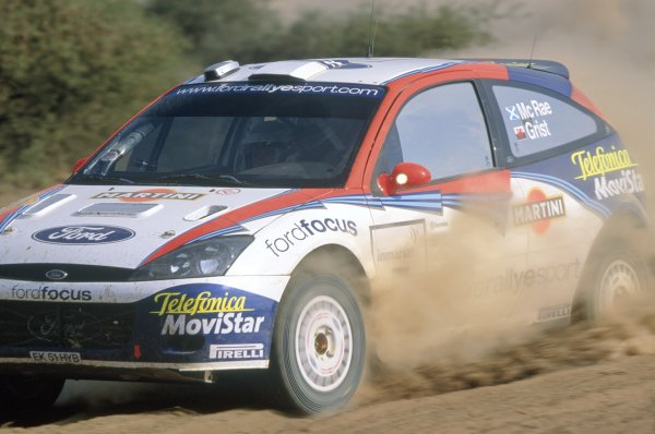 2002 World Rally Championship.Safari Rally, Kenya. 12-14 July 2002.Colin McRae/Nicky Grist (Ford Focus WRC), 1st position.World Copyright: LAT PhotographicRef: 35mm transparency 02RALLY08