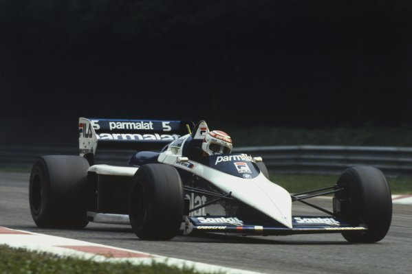1983 Italian Grand Prix.Monza, Italy.9-11 September 1983.Nelson Piquet (Brabham BT52B BMW) 1st position, action.World Copyright - LAT Photographic