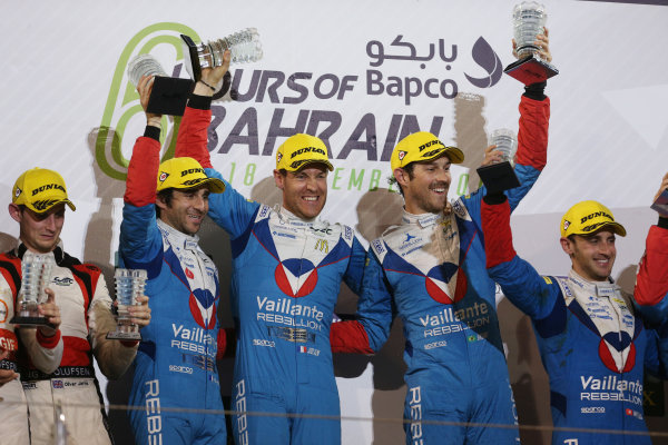 2017 FIA World Endurance Championship, Bahrain International Circuit, Bahrain. 16th-18th November 2017, #31 Vaillante Rebellion ORECA 07-Gibson: Julien Canal / Nicolas Prost / Bruno Senna  World Copyright. JEP/LAT Images