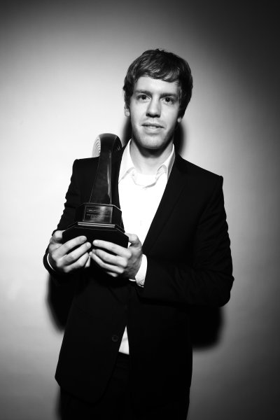 Grosvenor House Hotel, Park Lane, London 5th December 2010 Sebastian Vettel, winner of the 2010 International Racing Driver Award.World Copyright:Malcolm Griffiths/LAT Photographic ref: Digtal Image IMG_3867
