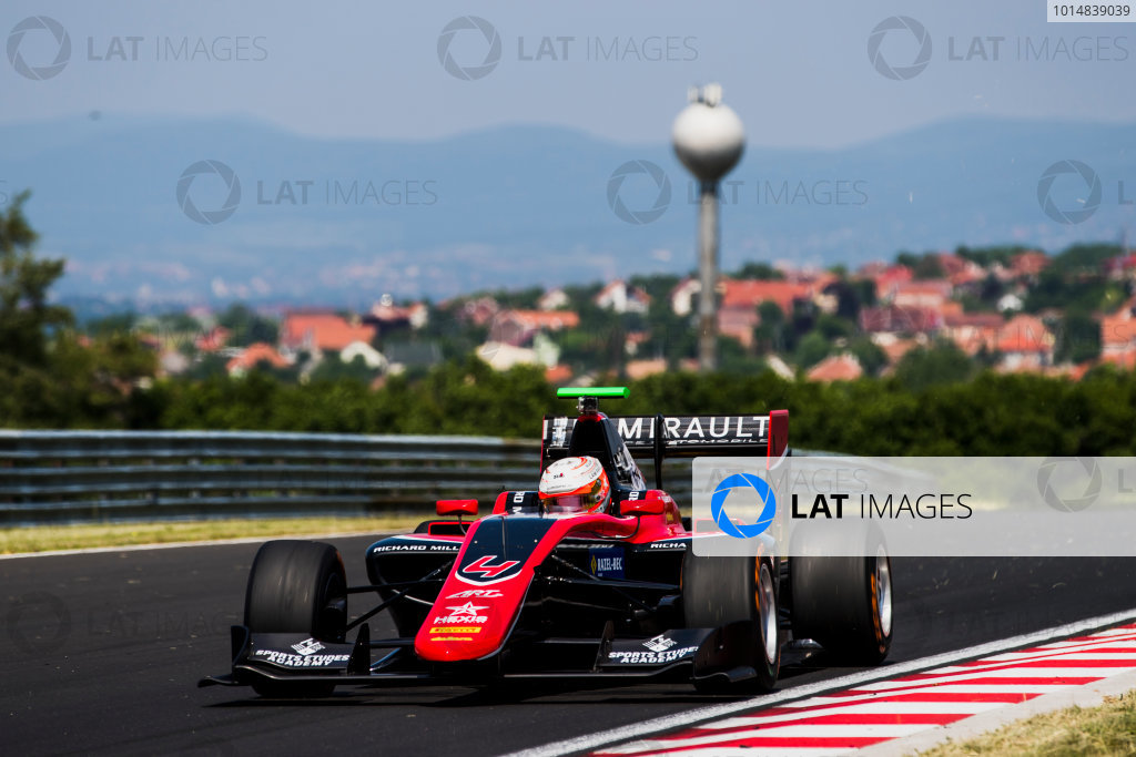 2017 GP3 Series Test 4.  Hungaroring, Budapest, Hungary. Tuesday 6 June 2017. Anthoine Hubert (FRA, ART Grand Prix)  Photo: Zak Mauger/GP3 Series Media Service. ref: Digital Image _54I2798