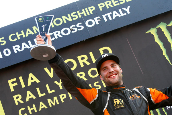 2014 FIA World Rallycross Championship Round 10 Franciacorta, Italy 27th & 28 th September 2014 Anders Braten, Ford, podium Worldwide LAT / McKlein