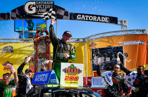 28-29 October, 2016, Martinsville, Virginia USA Johnny Sauter celebrates in victory lane ?2016, Logan Whitton  LAT Photo USA