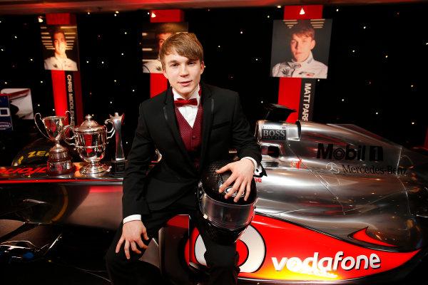 2013 Autosport Awards. Grosvenor House Hotel, Park Lane, London. Sunday 1st December 2013. Matt Parry - 2013 McLaren Autosport BRDC Award Winner World Copyright: Glenn Dunbar/LAT Photographic. ref: Digital Image _89P7699