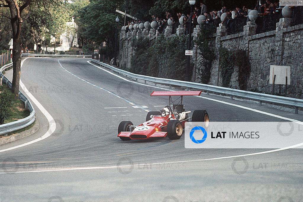 Monjuich Park, Barcelona, Spain.2-4 May 1969.Chris Amon (Ferrari 312).Ref-35mm 69 ESP 17.World Copyright - LAT Photographic