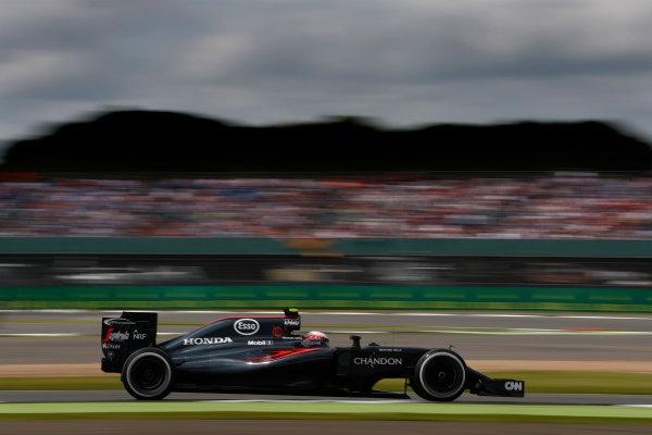 Silverstone, Northamptonshire, UK Friday 08 July 2016. Jenson Button, McLaren MP4-31 Honda. World Copyright: Glenn Dunbar/LAT Photographic ref: Digital Image _V2I6901