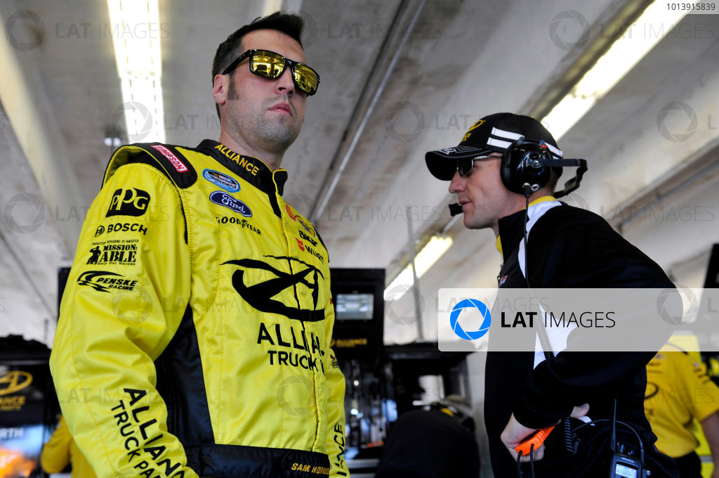 11-12 April, 2013, Fort Worth, Texas USA Sam Hornish Jr. and Greg Erwin ©2013, Nigel Kinrade LAT Photo USA