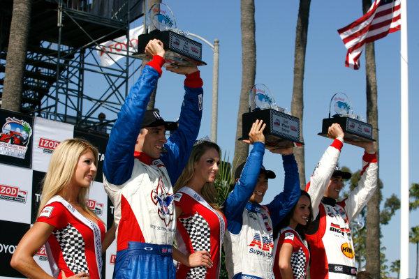 19-21 April 2013, Long Beach, California USA Justin Wilson, Takuma Sato, Graham Rahal.(c)2013, Todd Davis LAT Photo USA