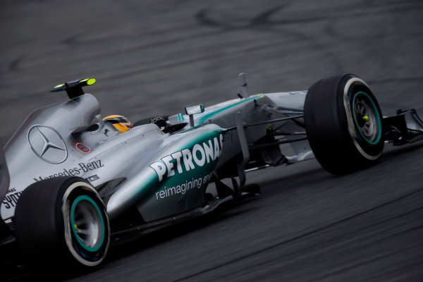 Circuit de Catalunya, Barcelona, Spain 11th May 2013. Lewis Hamilton, Mercedes W04. World Copyright: Glenn Dunbar/LAT Photographic ref: Digital Image _89P2930