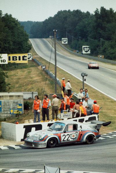Le Mans, France. 15-16 June 1974.Gijs van Lennep/Herbert Muller (Porsche Turbo RSR), 2nd position.World Copyright: LAT PhotographicRef: 35mm transparency 74LM12