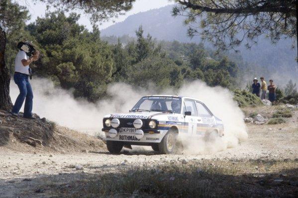 1981 World Rally Championship.Acropolis Rally, Greece. 1-4 June 1981.Ari Vatanen/David Richards (Ford Escort RS1800), 1st position.World Copyright: LAT PhotographicRef: 35mm transparency 81RALLY04
