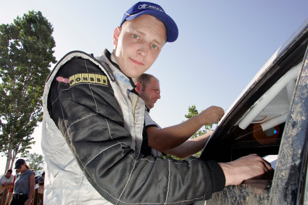2005 FIA World Rally Champs. Round eightAcropolis Rally 23rd - 26th June 2005 Mikko Hirvonen, Ford, portrait.