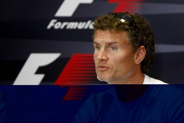 2007 Turkish Grand Prix - ThursdayIstanbul Motor Park, Istanbul, Turkey.23rd August 2007.David Coulthard, Red Bull Racing RB3 in the press conference. Portrait.World Copyright: Glenn Dunbar/LAT Photographicref: Digital Image _O9T2481