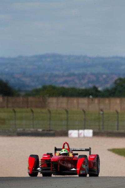 FIA Formula E Test Day, Donington Park, UK.  9th - 10th July 2014.  Lucas di Grassi, Audi Sport Abt. Photo: Sam Bloxham/FIA Formula E ref: Digital Image _SBL1268