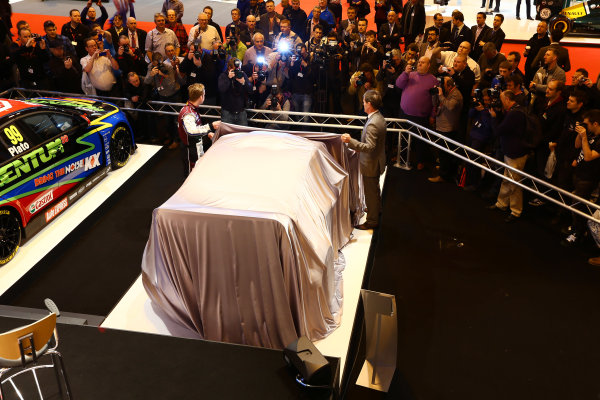 Autosport International Show NEC, Birmingham.  Thursday 10th January 2013. The new Ford Fiesta Rally Car is unveiled. World Copyright:Malcolm Griffiths/LAT Photographic ref: Digital Image F80P7763