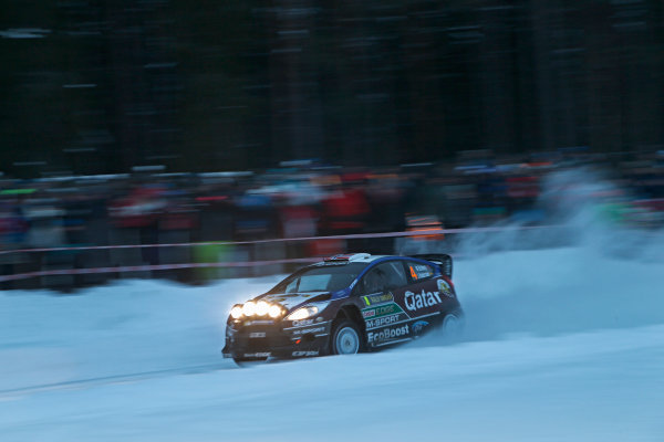 2013 FIA World Rally Championship Round 02-Rally Sweden 07-10 Februari 2013. Mads Ostberg, Ford WRC, Action.. Worldwide Copyright: McKlein/LAT