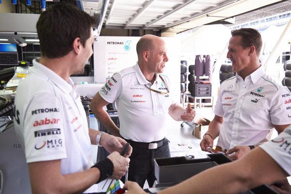 l Thursday 22nd November 2012. Michael Schumacher, Mercedes AMG.  World Copyright: Steve Etherington/c ref: Digital Image SNE28873 copy