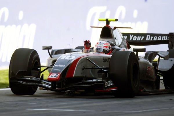 2008 GP2 Series. Round 1. Sunday Race.Barcelona, Spain. 27th April 2008Kamui Kobayashi (JPN, Dams) crosses the line to take victory. Action. World Copyright: Glenn Dunbar/GP2 Series Media Service.ref:__O9T6864 jpg