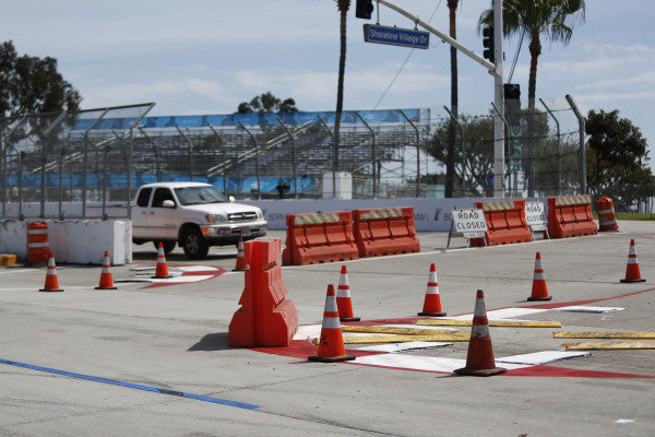 2014/2015 FIA Formula E Championship. Long Beach ePrix, Long Beach, California, United States of America. Friday 3 April 2015 View of the turn one chicane. Photo: Zak Mauger/LAT/Formula E ref: Digital Image _L0U6250