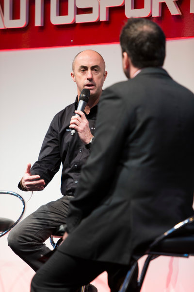 Autosport International Exhibition. National Exhibition Centre, Birmingham, UK. Saturday 10 January 2015. David Brabham on the Autosport stage. World Copyright: Zak Mauger/LAT Photographic. ref: Digital Image _L0U3613