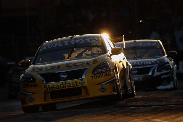 2014 V8 Supercar Championship. Round 1. Clipsal 500, Adelaide. 3rd March 2014. Sunday Race 2 .  Michael Caruso drives the #36 Norton Hornets Nissan Action.  World Copyright: Daniel Kalisz/LAT Photographic Ref: Digital Image040314DKIMG0020.JPG