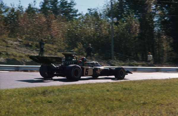 1972 Canadian Grand Prix.  Mosport, Canada. 22-24th September 1972.  Emerson Fittipaldi, Lotus 72D Ford.  Ref: 72CAN08. World Copyright: LAT Photographic