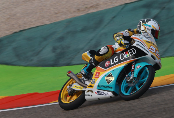 2017 Moto3 Championship - Round 14 Aragon, Spain. Saturday 23 September 2017 Juan Francisco Guevara, RBA Racing Team World Copyright: Gold and Goose / LAT Images ref: Digital Image 14017