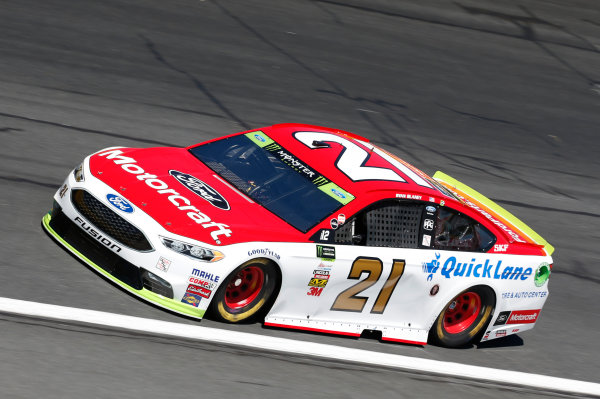 Monster Energy NASCAR Cup Series Bank of America 500 Charlotte Motor Speedway, Concord, NC Friday 6 October 2017 Ryan Blaney, Wood Brothers Racing, Motorcraft/Quick Lane Tire & Auto Center Ford Fusion World Copyright: Matthew T. Thacker LAT Images
