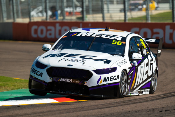 2017 Supercars Championship Round 7.  Townsville 400, Reid Park, Townsville, Queensland, Australia. Friday 7th July to Sunday 9th July 2017. Jason Bright drives the #56 MEGA Racing Ford Falcon FG-X. World Copyright: Daniel Kalisz/ LAT Images Ref: Digital Image 070717_VASCR7_DKIMG_341.jpg