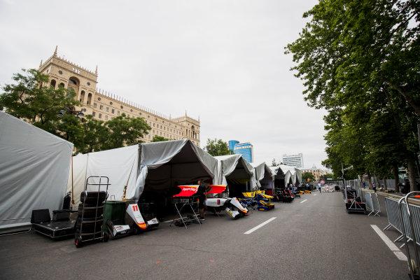 2017 FIA Formula 2 Round 4. Baku City Circuit, Baku, Azerbaijan. Thursday 22 June 2017. A view of the paddock. Photo: Zak Mauger/FIA Formula 2. ref: Digital Image _54I9033