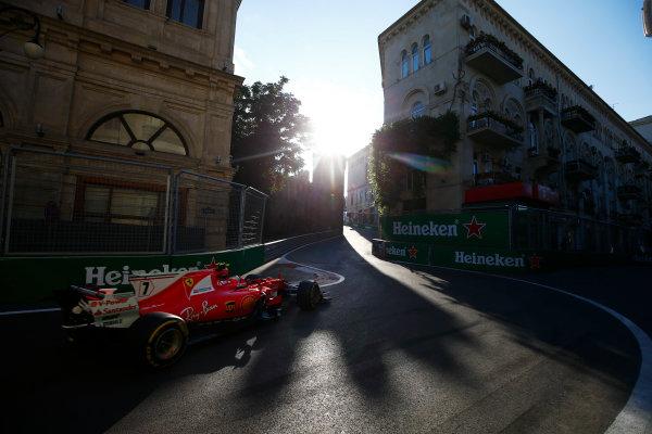 Baku City Circuit, Baku, Azerbaijan. Friday 23 June 2017. Kimi Raikkonen, Ferrari SF70H.  World Copyright: Andy Hone/LAT Images ref: Digital Image _ONZ6340