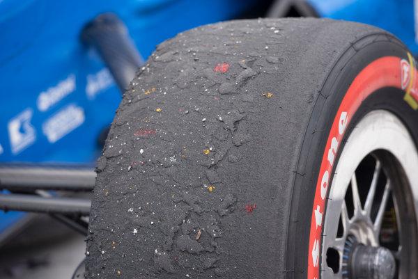 Verizon IndyCar Series Kohler Grand Prix Road America, Elkhart Lake, WI USA Sunday 25 June 2017 tire after the race World Copyright: Geoffrey M. Miller LAT Images