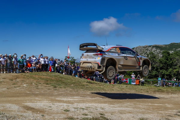 Thierry Neuville flies over Micky's Jump on Rally d'Italia Sardinia