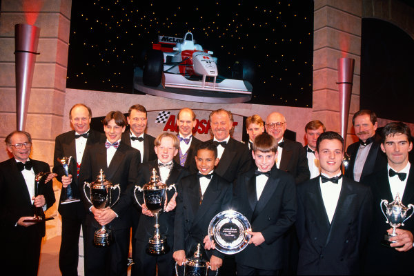 1996 Autosport Awards. Grosvenor House Hotel, London. 1st December 1996. All the winners on the stage at the end of the evening. World Copyright: LAT Photographic. Ref:  Colour Transparency.