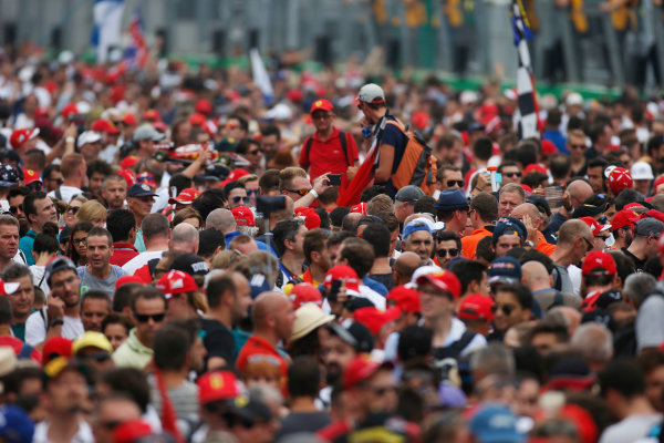 Autodromo Nazionale di Monza, Italy. Sunday 04 September 2016. Fans invade the track after the race. World Copyright: Sam Bloxham/LAT Photographic ref: Digital Image _SLA8806