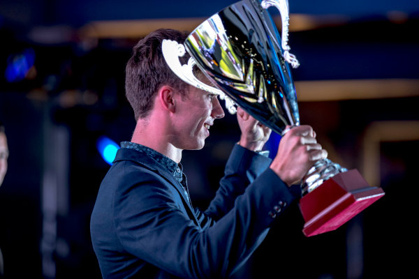 2016 GP2/3 Awards Evening. Yas Marina Circuit, Abu Dhabi, United Arab Emirates. Sunday 27 November 2016. Pierre Gasly (FRA, PREMA Racing)  Photo: Zak Mauger/GP2 Series Media Service/GP3 Series Media Service. ref: Digital Image _X0W9966