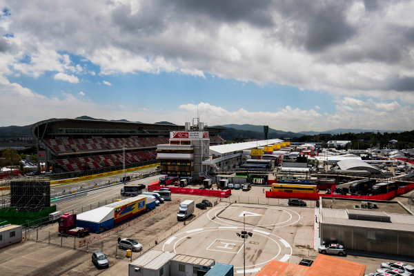 2017 GP3 Series Round 1.  Circuit de Catalunya, Barcelona, Spain. Thursday 11 May 2017. A view of the paddock. Photo: Zak Mauger/GP3 Series Media Service. ref: Digital Image _56I6685