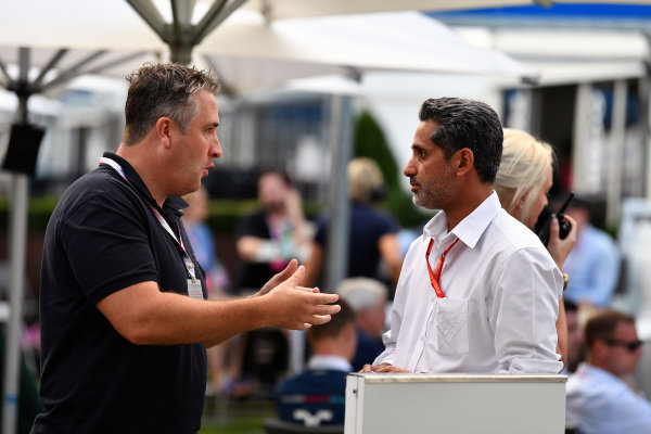 Chris Styring (AUS) and  Salman bin Isa Al Khalifa (BRN) Chief Executive of Bahrain International Circuit at Formula One World Championship, Rd1, Australian Grand Prix, Qualifying, Albert Park, Melbourne, Australia, Saturday 25 March 2017.
