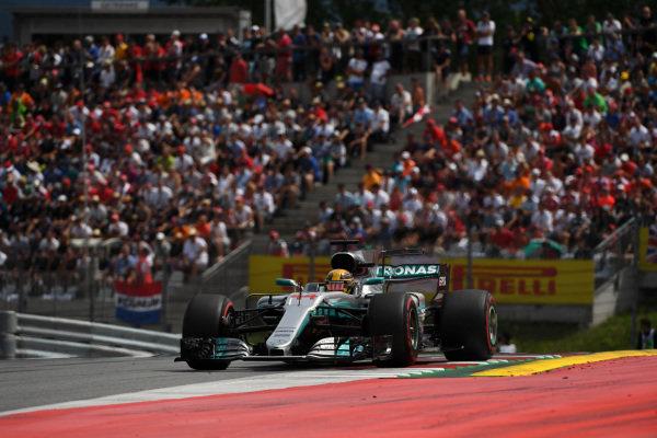 Lewis Hamilton (GBR) Mercedes-Benz F1 W08 Hybrid at Formula One World Championship, Rd9, Austrian Grand Prix, Race, Spielberg, Austria, Sunday 9 July 2017.